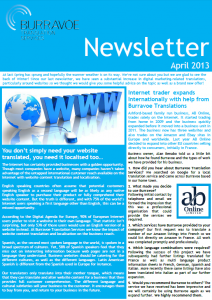 Burravoe Newsletter - April 2013